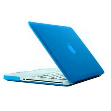 MacBook Pro 15.4 inch Frosted structuur hard Kunststof Hoesje / Case (baby blauw)