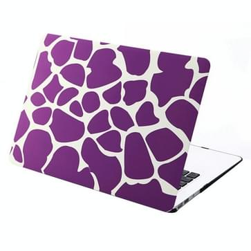 MacBook Air 13.3 inch Paars wit patroon hard Kunststof Hoesje / Case