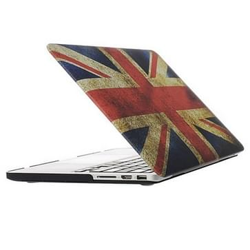 MacBook Pro Retina 13.3 inch Retro UK vlag patroon hard Kunststof Hoesje / Case
