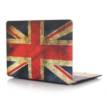 MacBook 12 inch Retro UK vlag patroon hard Kunststof Hoesje / Case
