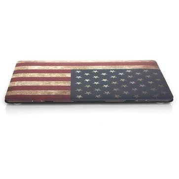 MacBook 12 inch Retro USA vlag patroon hard Kunststof Hoesje / Case