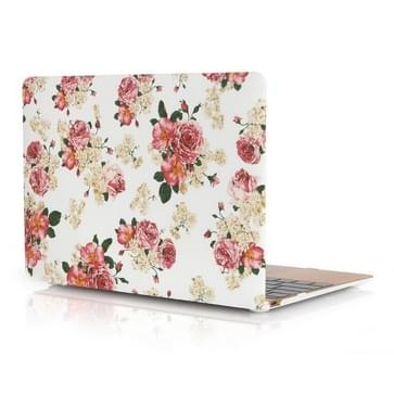 MacBook 12 inch Chinees rozen patroon hard Kunststof Hoesje / Case
