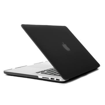 MacBook Pro Retina 15.4 inch 4 in 1 Frosted patroon Hardshell ENKAY behuizing met ultra-dun TPU toetsenbord Cover en afsluitende poort pluggen (zwart)