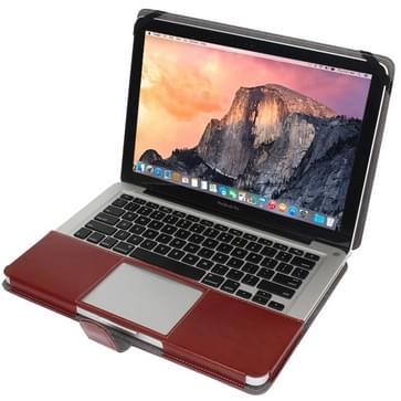 MacBook Pro 13.3 inch PU leren Hoesje met snap-on bevestiging (bruin)