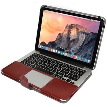 MacBook Pro Retina 13.3 inch PU leren Hoesje met snap-on bevestiging (bruin)