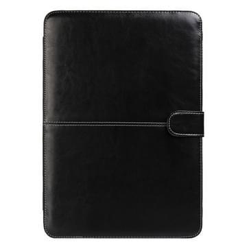MacBook Pro 15.4 inch PU leren Hoesje met snap-on bevestiging (zwart)