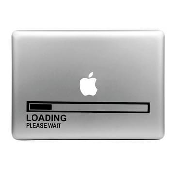 Hat-Prince Loading Please Wait patroon verwijderbare decoratieve Skin Sticker voor MacBook Air / Pro / Pro met Retina scherm, Maat: L