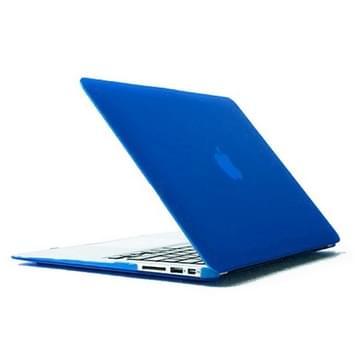 MacBook Air 11.6 inch 4 in 1 Frosted patroon Hardshell ENKAY behuizing met ultra-dun TPU toetsenbord Cover en afsluitende poort pluggen (donker blauw)