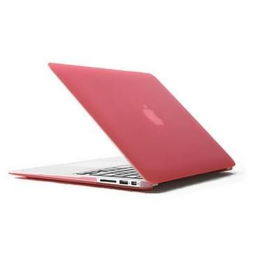 MacBook Air 11.6 inch 4 in 1 Frosted patroon Hardshell ENKAY behuizing met ultra-dun TPU toetsenbord Cover en afsluitende poort pluggen (roze)