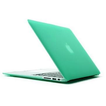 MacBook Air 11.6 inch 4 in 1 Frosted patroon Hardshell ENKAY behuizing met ultra-dun TPU toetsenbord Cover en afsluitende poort pluggen (groen)