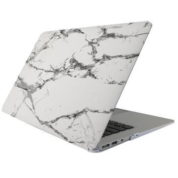 MacBook Pro 13.3 inch Marmer patroon bescherm Sticker voor Cover (wit donkergrijs)