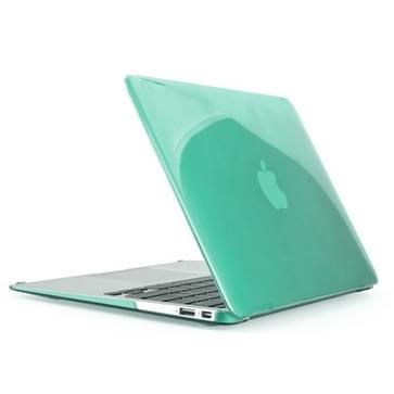 MacBook Air 11.6 inch 4 in 1 Kristal patroon Hardshell ENKAY behuizing met ultra-dun TPU toetsenbord Cover en afsluitende poort pluggen (groen)