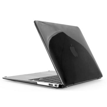 MacBook Air 13.3 inch 4 in 1 Kristal patroon Hardshell ENKAY behuizing met ultra-dun TPU toetsenbord Cover en afsluitende poort pluggen (zwart)