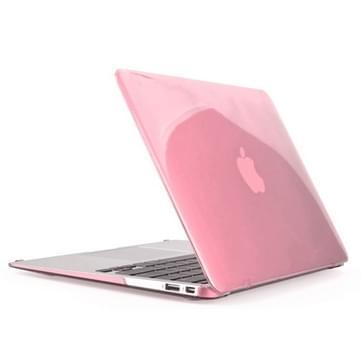 MacBook Air 13.3 inch 4 in 1 Kristal patroon Hardshell ENKAY behuizing met ultra-dun TPU toetsenbord Cover en afsluitende poort pluggen (roze)