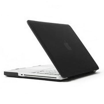 MacBook Pro 15.4 inch 4 in 1 Frosted patroon Hardshell ENKAY behuizing met ultra-dun TPU toetsenbord Cover en afsluitende poort pluggen (zwart)