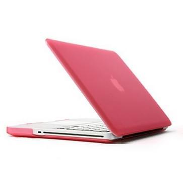 MacBook Pro 15.4 inch 4 in 1 Frosted patroon Hardshell ENKAY behuizing met ultra-dun TPU toetsenbord Cover en afsluitende poort pluggen (roze)