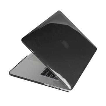 MacBook Pro Retina 15.4 inch 4 in 1 Kristal patroon Hardshell ENKAY behuizing met ultra-dun TPU toetsenbord Cover en afsluitende poort pluggen (zwart)