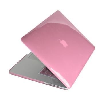 MacBook Pro Retina 15.4 inch 4 in 1 Kristal patroon Hardshell ENKAY behuizing met ultra-dun TPU toetsenbord Cover en afsluitende poort pluggen (roze)