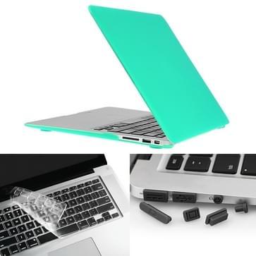 MacBook Air 11.6 inch 3 in 1 Frosted patroon Hardshell ENKAY behuizing met ultra-dun TPU toetsenbord Cover en afsluitende poort pluggen (groen)