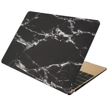 MacBook Air 11.6 inch Marmer patroon bescherm Sticker voor Cover (zwart wit)