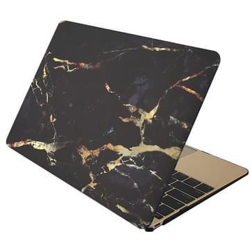 MacBook Air 11.6 inch Marmer patroon bescherm Sticker voor Cover (zwart bruin)