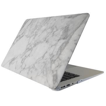 MacBook Air 11.6 inch Marmer patroon bescherm Sticker voor Cover (wit grijs)
