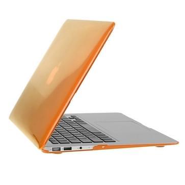 MacBook Air 11.6 inch 3 in 1 Kristal patroon Hardshell ENKAY behuizing met ultra-dun TPU toetsenbord over en afsluitende poort pluggen (Oranje)