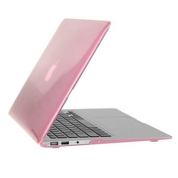 MacBook Air 11.6 inch 3 in 1 Kristal patroon Hardshell ENKAY behuizing met ultra-dun TPU toetsenbord over en afsluitende poort pluggen (roze)