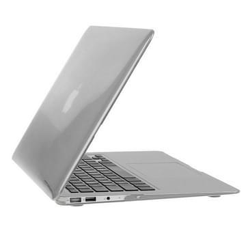 MacBook Air 11.6 inch 3 in 1 Kristal patroon Hardshell ENKAY behuizing met ultra-dun TPU toetsenbord over en afsluitende poort pluggen (grijs)
