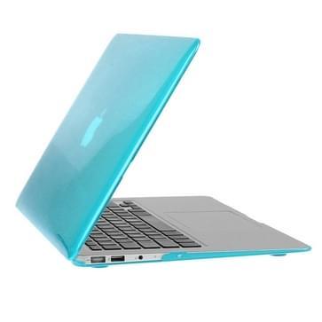 MacBook Air 11.6 inch 3 in 1 Kristal patroon Hardshell ENKAY behuizing met ultra-dun TPU toetsenbord over en afsluitende poort pluggen (blauw)