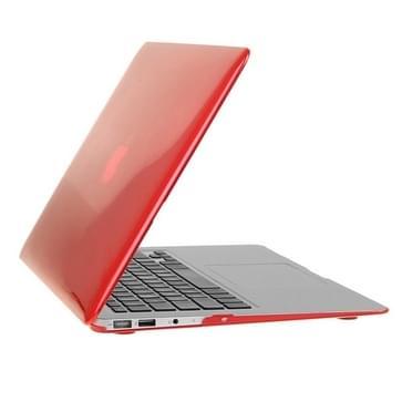MacBook Air 11.6 inch 3 in 1 Kristal patroon Hardshell ENKAY behuizing met ultra-dun TPU toetsenbord over en afsluitende poort pluggen (rood)