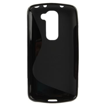S Line Anti-slip Frosted TPU hoesje voor LG G2 mini (zwart)