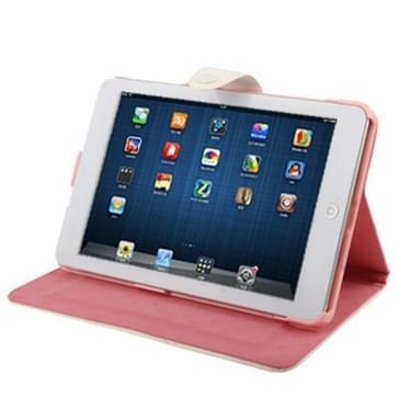 Puppy rood Series Funny Girls patroon Magnetic horizontaal Flip lederen hoesje met houder voor iPad mini 1 / 2 / 3