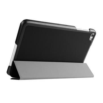 Custer structuur structuur horizontaal Flip lederen hoesje met 3-vouw houder voor Huawei MediaPad M2(zwart)