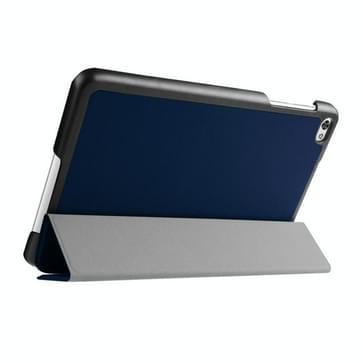Custer structuur structuur horizontaal Flip lederen hoesje met 3-vouw houder voor Huawei MediaPad M2(donker blauw)