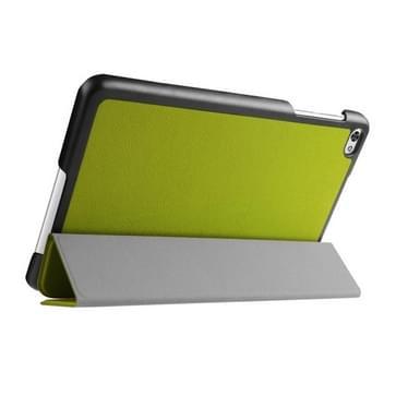Custer structuur structuur horizontaal Flip lederen hoesje met 3-vouw houder voor Huawei MediaPad M2(groen)
