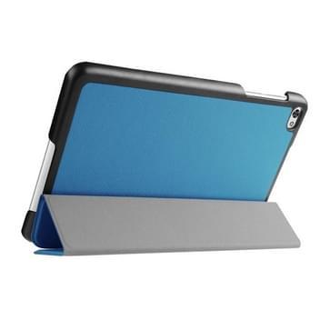 Custer structuur structuur horizontaal Flip lederen hoesje met 3-vouw houder voor Huawei MediaPad M2(blauw)