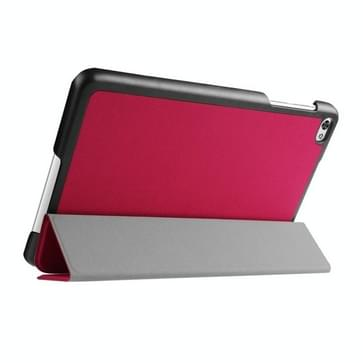 Custer structuur structuur horizontaal Flip lederen hoesje met 3-vouw houder voor Huawei MediaPad M2(hard roze)