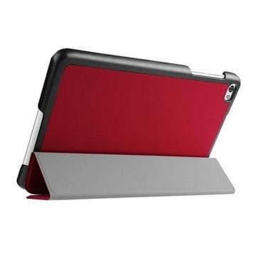Custer structuur structuur horizontaal Flip lederen hoesje met 3-vouw houder voor Huawei MediaPad M2(rood)