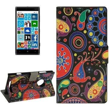 Acaleph patroon horizontaal Flip Magnetische sluiting lederen hoesje met opbergruimte voor pinpassen & portemonnee & houder voor Nokia Lumia 830