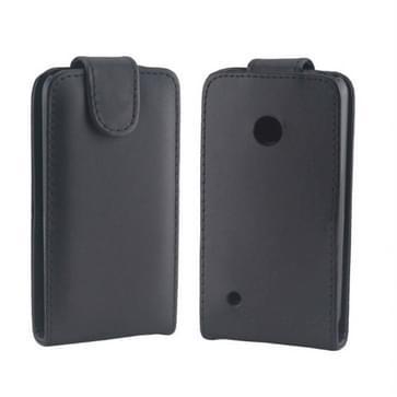 Vertical Flip lederen hoesje voor Nokia Lumia 530(zwart)