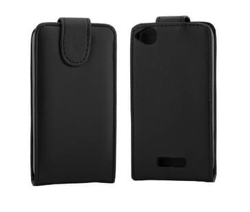 verticaal flip effen Kleur lederen hoesje voor HTC Desire 320(zwart)