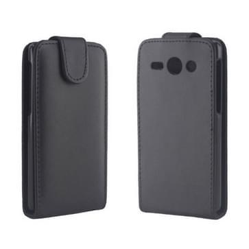 Huawei Ascend Y530 / C8813 beschermend vertikaal PU leren Flip Hoesje (zwart)