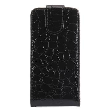 Crocodile Texture Vertical Flip Leather Case for LG Optiums / P970(Black)