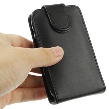 Vertical Flip lederen hoesje voor BlackBerry Curve 9220 (zwart)