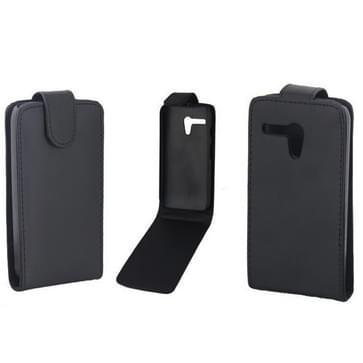 Vertical Flip lederen hoesje voor Motorola Moto G / XT937C / XT1028 (zwart)