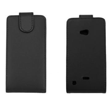 Pure Kleur Vertical Flip lederen hoesje voor Nokia Lumia 720 (zwart)