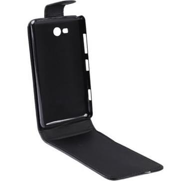 Vertical Flip lederen hoesje voor Nokia Lumia 820 (zwart)