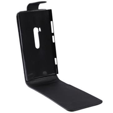 Vertical Flip lederen hoesje voor Nokia Lumia 920 (zwart)