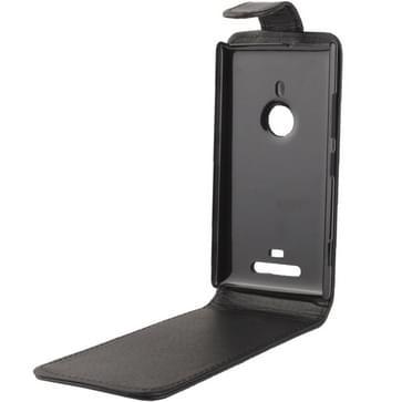 Vertical Flip Soft lederen hoesje voor Nokia Lumia 925 (zwart)